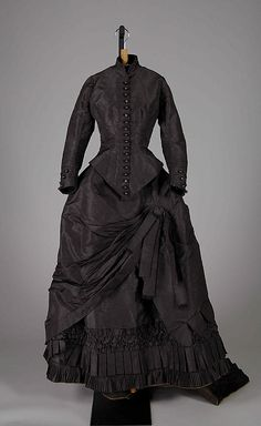 Dress Date: ca. 1875 Culture: Irish Medium: Silk Credit Line: Brooklyn Museum Costume Collection at The Metropolitan Museum of Art, Gift of the Brooklyn Museum, 2009; Gift of Jim McAnena, 1968