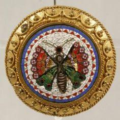 19th Century Micro Mosaic Pin