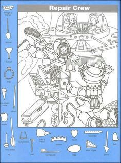 Hidden Pictures Classics: In Space Details - Rainbow Resource Center… Hidden Object Puzzles, Hidden Picture Puzzles, Colouring Pages, Coloring Books, Highlights Hidden Pictures, Hidden Pictures Printables, Find The Hidden Objects, Rainbow Resource, Activity Sheets