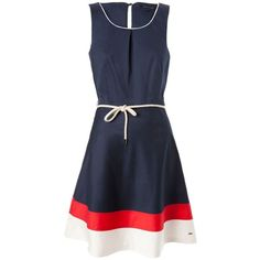 Tommy Hilfiger Dessie colorblock sleeveless dress ($240) ❤ liked on Polyvore