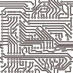 seamless pattern electronic circuit board background Stock Vector