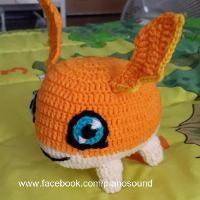 Crochet Amigurumi Patamon Digimon Pattern - via @Craftsy