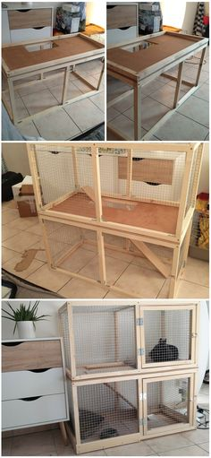Cage à lapins homemade