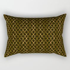 """Golden Brown Scissor Stripes Pillow by Gravityx9 Designs at Society6 - Home Decor - Our Rectangular Pillow is the ultimate decorative accent to any room. Made from 100% spun polyester poplin fabric, these """"lumbar"""" pillows feature a double-sided print and are finished with a concealed zipper for an ideal contemporary look. Includes faux down insert. Available in small, medium, large and x-large."""