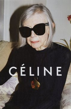 Ever-Cool Literary Icon Joan Didion Stars in Céline's Spring Ad Campaign  #InStyle