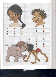 The jungle book x-stitch