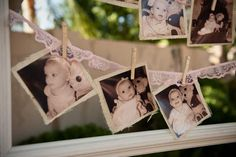Lace and Burlap Photo Banner  8th Graders Pics and Vintage St Michaels School Pics