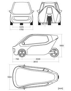 Three-wheeled car