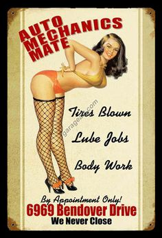 Click to find out more about Auto Mechanics Mate Pinup Girl Garage Sign