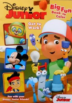 Disney Junior Mickey Mouse Handy Manny And The Gang Big Fun Coloring Book Get