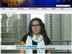 Maryam Adrangi, climate and energy campaigner with the Council of Canadians, challenging the Keystone XL pipeline on CTV News. Xl Pipeline, New Program, Local News, Climate Change, Parents, Challenges, Fathers, Parenting Humor, Parenting