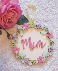 Personalised name hoop, Floral name hoop, Personalised floral hoop plaque, pretty floral name plaque, layered floral sign Wood Burning Kits, Box Frame Art, Childrens Bedroom Decor, Baby Mobile, Floral Hoops, Name Plaques, Wooden Decor, Wooden Hearts, Baby Decor