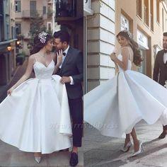 Spaghetti Strap A-line Wedding Dress Wedding Robe, Western Wedding Dresses, Wedding Dresses With Straps, Princess Wedding Dresses, Perfect Wedding Dress, White Wedding Dresses, Bridal Dresses, Wedding White, Lace Wedding