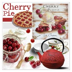 """""""Cherry Pie (See Description)"""" by never-alone ❤ liked on Polyvore featuring interior, interiors, interior design, home, home decor, interior decorating, Anna Weatherley, Old Dutch, kitchen and vintage"""