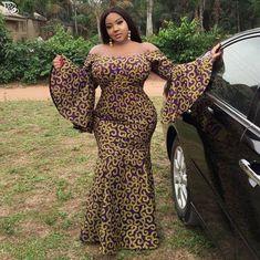 Afrikanische Frauen Kleidung / African Print Fit und Flare Plus Size / Ankara Mode Kleid Plus Size / afrikanische Hochzeit Outfit / African African Prom Dresses, Latest African Fashion Dresses, African Print Fashion, Africa Fashion, African Dress, African Wear, Ankara Fashion, African Women Fashion, African Prints