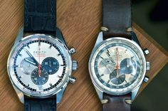 Just Because: An Original Zenith A386 El Primero Chronograph And The Awesome Striking Tenth, Next To Each Other