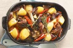 A one-pot meal that is suitable for the whole family. This Lamb casserole is easy to cook . It is quite economical using shoulder lamb and shanks can be used instead too.