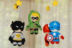 Superhero baby mobile Baby Crib Mobile Super Hero от UAmadeForYou