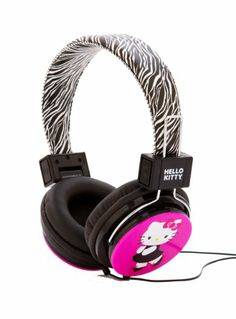 Hello Kitty HK-ZEB-WM Headphones with Zebra Design : Compatible with all iPod/iPhone/MP3/MP4 Player/Portable Audio/Video devices and Game Systems