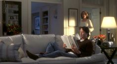 Something's Gotta Give movie beach house living room Home Theater Setup, Best Home Theater, Home Theater Speakers, Home Theater Seating, Something's Gotta Give House, The Big Comfy Couch, Best Interior Paint, Diane Keaton, Beach House Decor