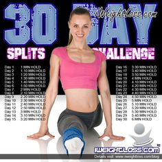 10 best 30 day splits challenge images on pinterest  30