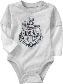 anchor, baby boy onesie