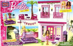 New Barbie Beach House Mega Bloks 129 Piece Playset  Build & Style