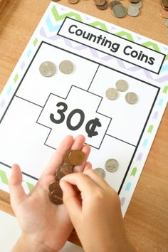 Coins Money Games - Fantastic Fun & Learning Different Ways to Count Sets of Coins-Money Math for First GradeDifferent Ways to Count Sets of Coins-Money Math for First Grade Money Activities, Math Resources, Math Activities For Kids, Math For Kids, Fun Math, Math Art, Math Stations, Math Centers, Centers First Grade