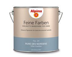 """Alpina Feine Farben """"Ruhe des Nordens"""":  Dieses stille Graublau strahlt ruhige Gelassenheit aus. Kühl, aber mit Gefühl!"""