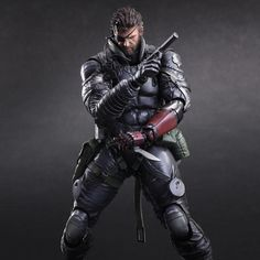Metal Gear Solid Venom Snake Sneaking Suit Play Arts Kai Action Figure | Metal Gear Solid V: The Phantom Pain Action Figure | Popcultcha