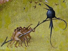 between 1490 and 1515 (detail) by Hieronymus Bosch (1450~1516), 'The Garden of Earthly Delights' (Prado, Madrid)