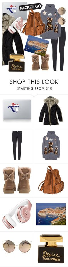 """pack and go dubrovnik"" by anicagrbesa ❤ liked on Polyvore featuring Vinyl Revolution, Hollister Co., Paige Denim, Dolce&Gabbana, UGG, Yves Saint Laurent and Beats by Dr. Dre"
