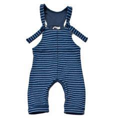 imps & elfs lightblue/blue striped overall
