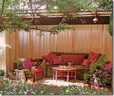 Um verdadeiro lounge no gazebo