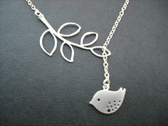 SALE  sweet little mod bird lariat  matte white by KeoniDesign, $17.99