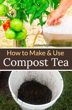 How to use compost to make the perfect liquid fertilizer. Organic Fertilizer For Vegetables, Vegetable Garden Fertilizer, Fertilizer For Plants, Vegetable Garden Design, Organic Plants, Planting Vegetables, Organic Gardening, Gardening Tips, Organic Liquid Fertilizer