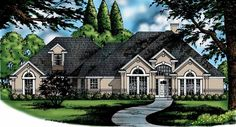 Eplans New American House Plan - Spectacular French Styling - 2316 Square Feet and 4 Bedrooms from Eplans - House Plan Code HWEPL06766