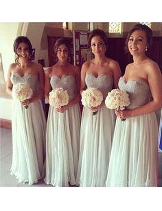 Sweetheart bridesmaid dress,Long bridesmaid dress,Beading bridesmaid dress ,Floor-length Bridesmaid dress ,PD85