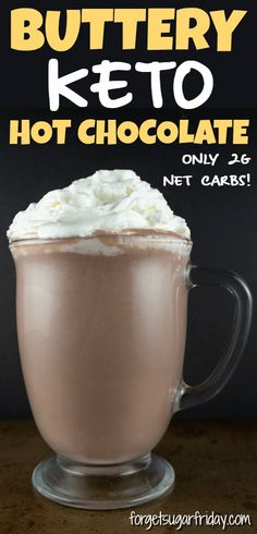 Buttery Keto Hot Chocolate is a breeze to make and is packed with valuable electrolytes. Whip up a warming cup of this yummy keto hot cocoa today! 30 Day Low Carb Diet, Keto Diet Book, Ketogenic Diet Meal Plan, Diet Meal Plans, Fall Recipes, Diet Recipes, Healthy Recipes, Mince Recipes, Diet Meals