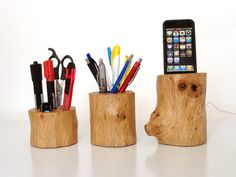 Iphone Dock / Office Organizer / Pen Holder - Iphone 4, Iphone 5 Cradle From…