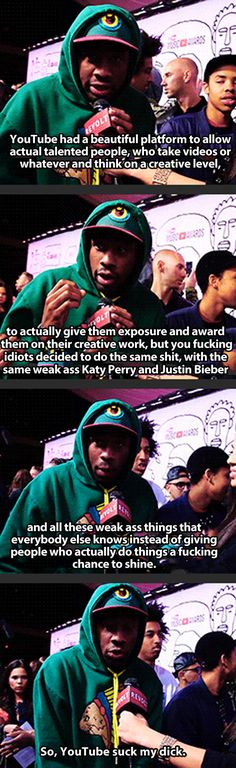 Tyler the Creator, everyone // funny pictures - funny photos - funny images - funny pics - funny quotes - Odd Future Wolf Gang, Funny Images, Funny Pictures, Tyler The Creator Wallpaper, Fleur Design, Take Video, Rap Music, Man Humor, Laugh Out Loud