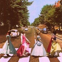 Ariel, Aurora, Cinderella, Snow White.