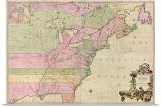 Atlanta GA Map of Southern United States 1824 Southern United