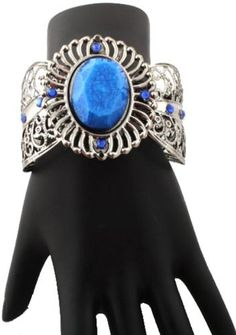 Ladies Silver with Blue Gemstone Style Bangle Bracelet JOTW. $0.01. Great Quality Jewelry!. 100% Satisfaction Guaranteed!