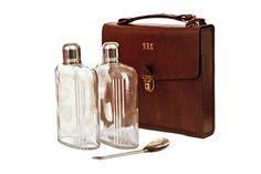 Vintage 1970s Travel Set 2 Hip Flasks Plus 2 cups by boboCOLLECTED