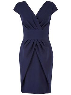 Buy Almari V Neck Pleat Dress, Navy from our Women's Dresses Offers range at John Lewis & Partners. Blue Evening Dresses, Navy Blue Dresses, Navy Dress, Dress Skirt, Wrap Dress, Fit And Flare Cocktail Dress, Navy Blue Cocktail Dress, Cocktail Dresses, Flare Dress