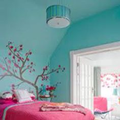 Pink and Tiffany Blue