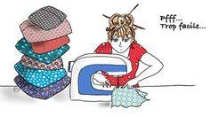 En dessin : confectionnez vous-même vos housses de coussins Simple et efficace , un jeu d' enfant