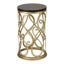 Add a little glitz and glam to your bedroom or home office with the Orly Accent Table.