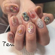 "488 Likes, 1 Comments - kana Akiyama (@mynameiskana) on Instagram: ""⭕️ #tennail#nail #nailart"""